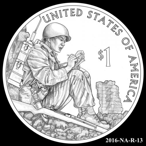 2016 Presidential $1 Coin Design Candidate 2016-NA-R-13