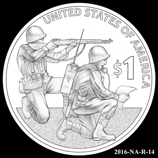 2016 Presidential $1 Coin Design Candidate 2016-NA-R-14