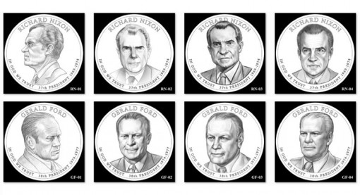 2016 Presidential $1 Coin Design Candidates of Richard Nixon and Gerald Ford