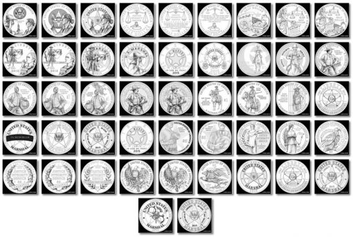 47 Design Candidates for US Marshals Service Commemorative Coins