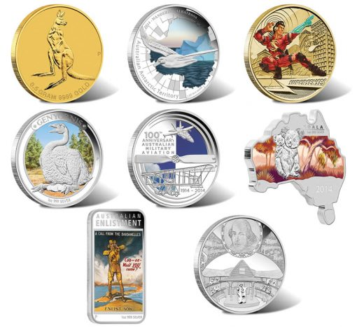 Australian Gold and Silver Coins for March 2014