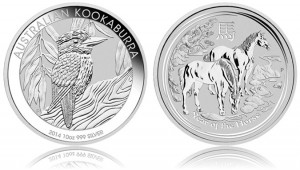 Australian Kookaburra and Year of the Horse 10 oz Silver Bullion Coins