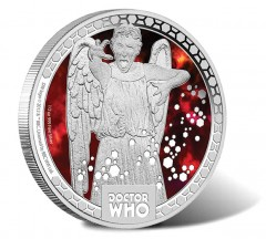 2014 Doctor Who Monsters Coin Depicts Weeping Angel
