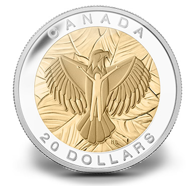 2014 $20 Love, Seven Sacred Teachings Canadian Silver Coin