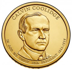 2014 Calvin Coolidge Presidential $1 Coin