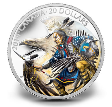 2014 Legend of Nanaboozhoo Silver Coin