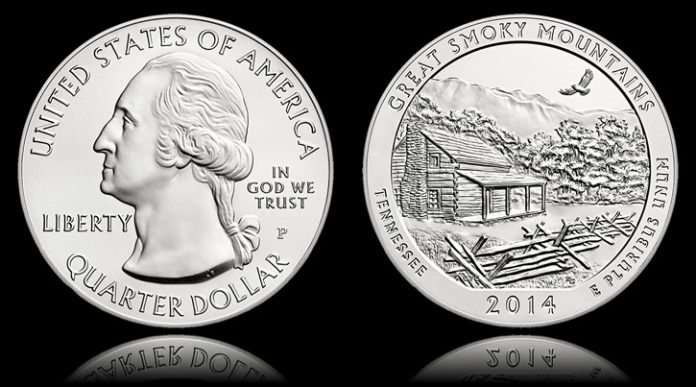 2014-P Great Smoky Mountains National Park 5 oz Silver Uncirculated Coin