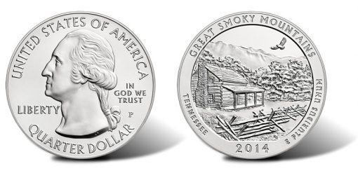 2014-P Great Smoky Mountains National Park Five Ounce Silver Uncirculated Coin