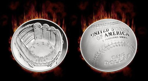 2014-P National Baseball Hall of Fame Proof Silver Dollar