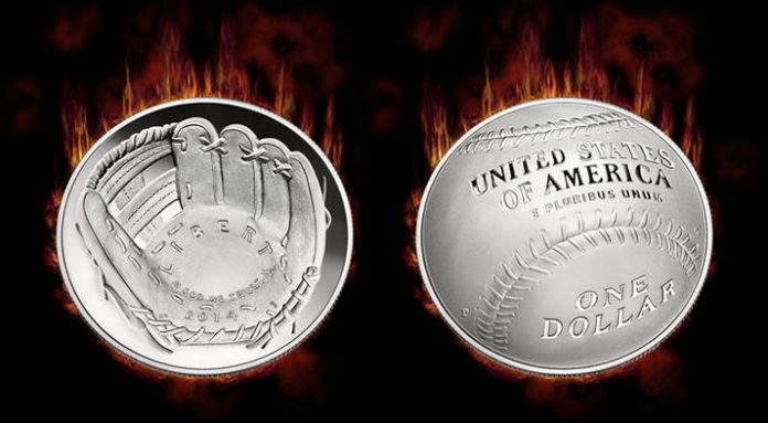 2014-P National Baseball Hall of Fame Proof Silver Dollar