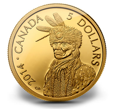 2014 Portrait of Nanaboozhoo Pure Gold Coin