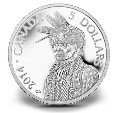 2014 Portrait of Nanaboozhoo Platinum Coin
