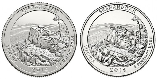 2014 Proof and Uncirculated Shenandoah National Park Quarters