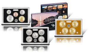 2014 Silver Proof Set - Lenses with Coins and Packaging