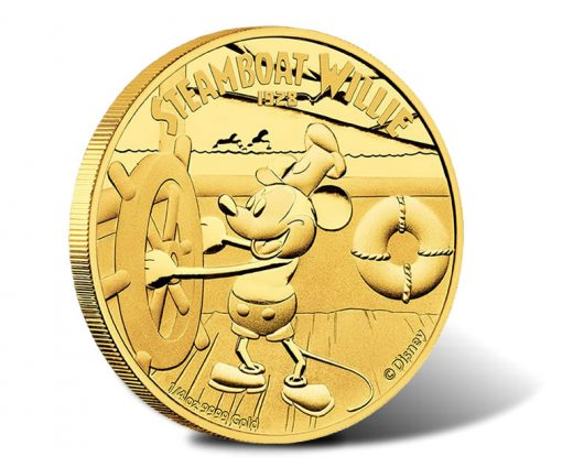 2014 Steamboat Willie Gold Coin