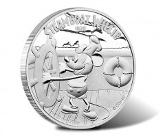 Mickey Mouse on Steamboat Willie Starts Disney Coin Series