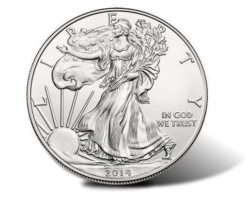 2014-W Uncirculated American Silver Eagle Obverse