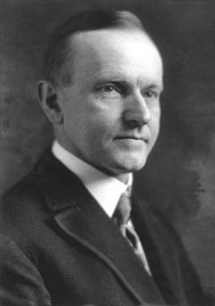 Calvin Coolidge, published in the US before 1923 and public domain in the US
