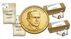 Calvin Coolidge Presidential $1 Coin in Rolls, Bags and Boxes