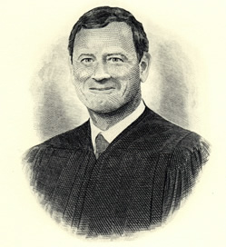 Chief Justice Roberts Engraved Portrait