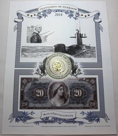 2014 Navy Intaglio Print from Defenders of Freedom Series