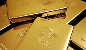 Several gold bars