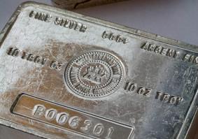 Silver bullion bar
