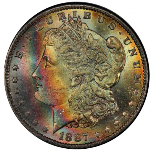 1887-O $1 PCGS MS65+ CAC - Obverse