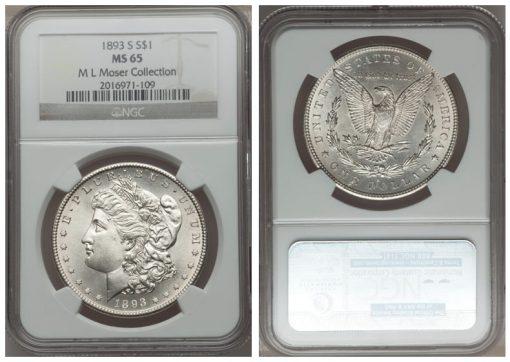 1893-S $1 MS65 NGC