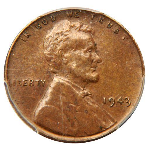 1943 1C Bronze PCGS AU55 CAC - Obverse