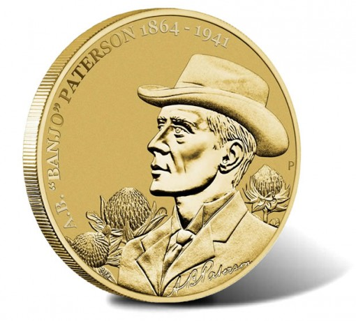 2014 150th Anniversary of A.B. Banjo Paterson Aluminium Bronze $1 Coin