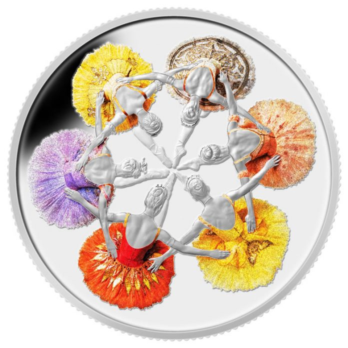 2014 $20 75th Anniversary of The Royal Winnipeg Ballet Silver Coin