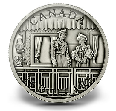 2014 $20 Canadian 75th Anniversary of the First Royal Visit Silver Coin