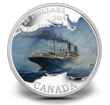 2014 $20 RMS Empress of Ireland Silver Coin