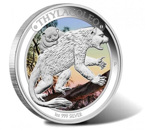 2014 Australian Megafauna Thylacoleo Silver Proof Coin