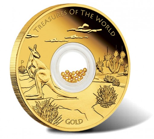2014 Australian Treasures of the World Gold Locket Coin