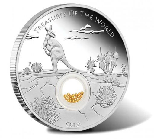 2014 Australian Treasures of the World Silver Locket Coin