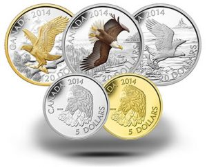 2014 Bald Eagle Series Features 5 Canadian Coins