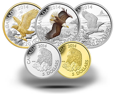 2014 Bald Eagle Canadian Coins