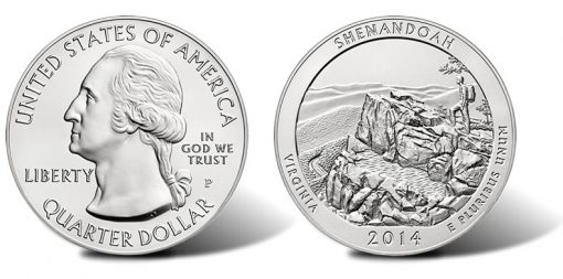 2014-P Shenandoah National Park Silver Uncirculated Coin