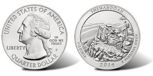 2014-P Shenandoah National Park Silver Uncirculated Coin