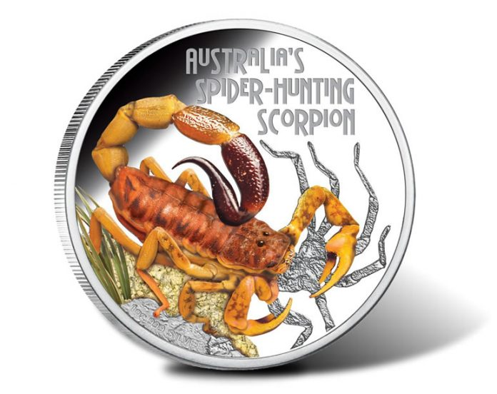 2014 Spider-Hunting Scorpion Silver Proof Coin