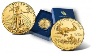 2014-W $50 Uncirculated American Gold Eagles and Presentation Case