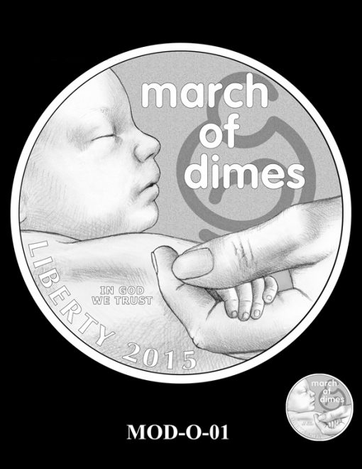 2015 March of Dimes Commemorative Coin Design Candidate MOD-O-01