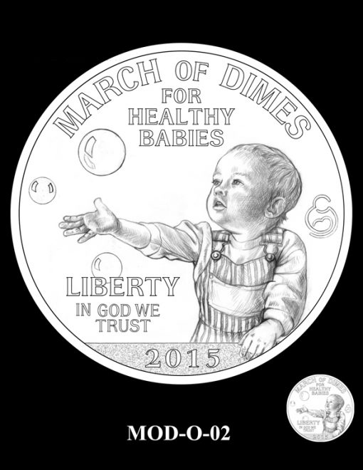 2015 March of Dimes Commemorative Coin Design Candidate MOD-O-02