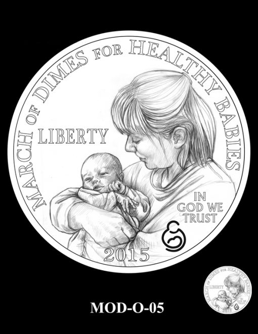 2015 March of Dimes Commemorative Coin Design Candidate MOD-O-05