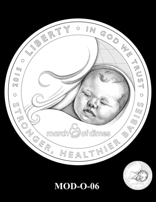 2015 March of Dimes Commemorative Coin Design Candidate MOD-O-06