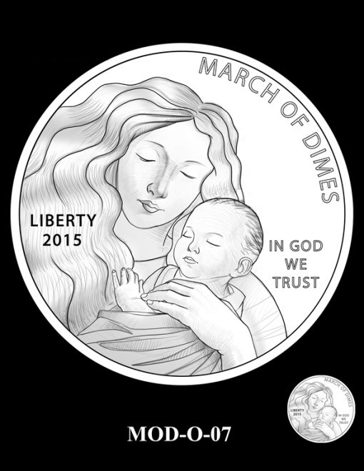 2015 March of Dimes Commemorative Coin Design Candidate MOD-O-07