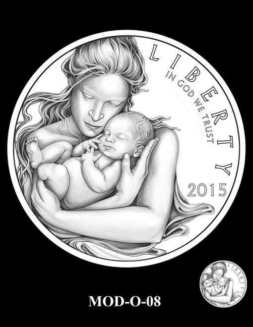 2015 March of Dimes Commemorative Coin Design Candidate MOD-O-08