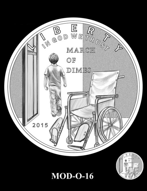 2015 March of Dimes Commemorative Coin Design Candidate MOD-O-16